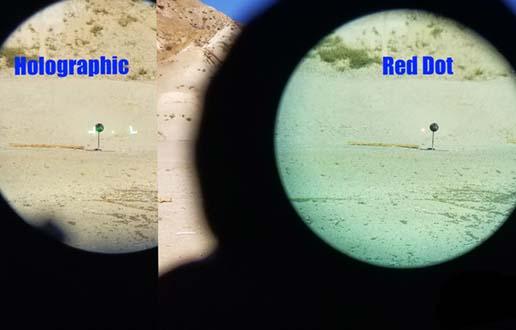 Punane täpp vs holograafiline vaatepilt - 2. märts 2021